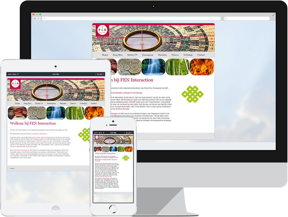 webdesign FEN Interaction Haaren door Robiz.nl Webdesign & Webhosting
