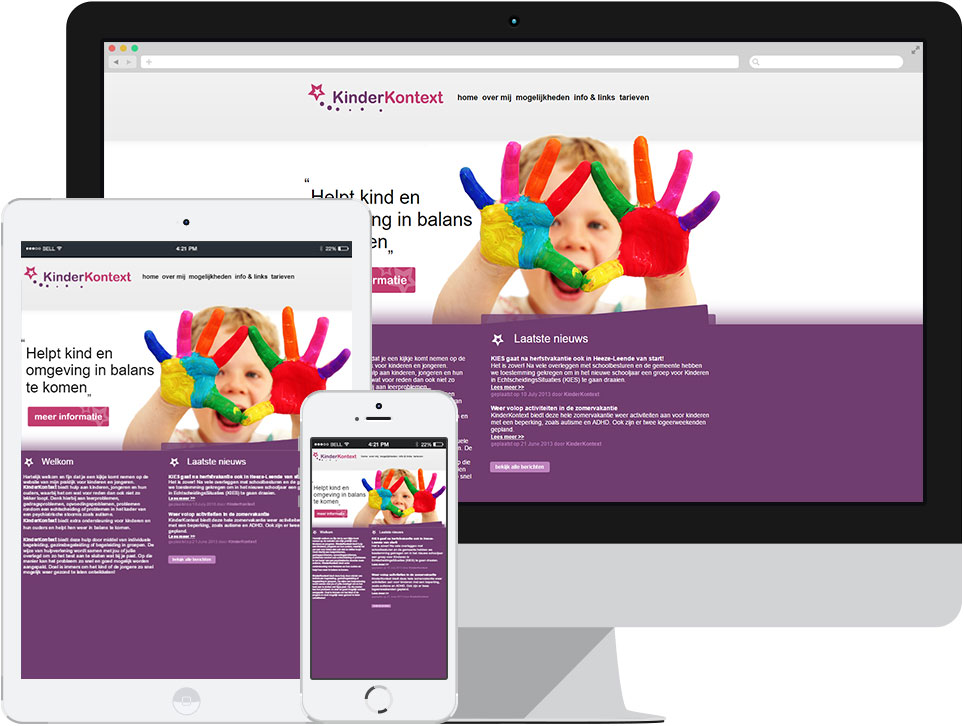 webdesign KinderKontext Heeze door Robiz.nl Webdesign & Webhosting